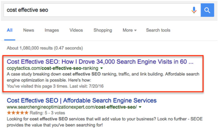 Cost Effective SEO Tips - Search Query